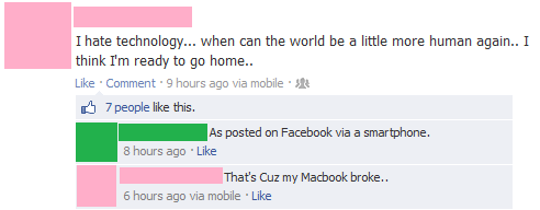 Who Needs Technology Anyway?
