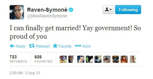 twitter,news,raven symone,gay marriage