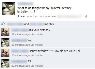 "The Keywords Being ""Quarter Century"""