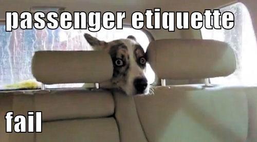 passenger etiquette  fail