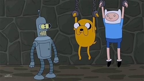 Finn and Jake in Futurama?!