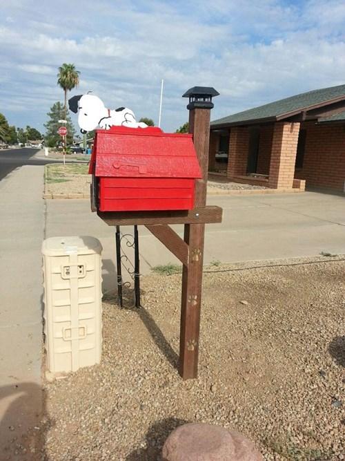peanuts,mailbox,design,snoopy,funny