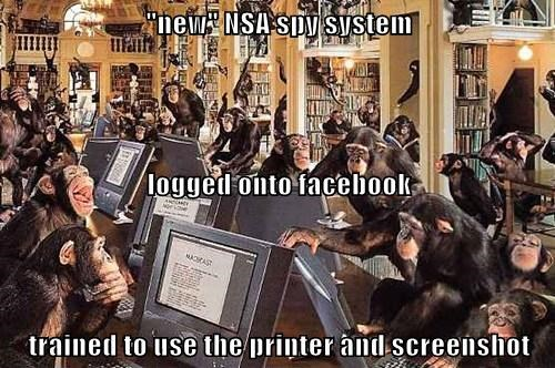 """new"" NSA spy system logged onto facebook trained to use the printer and screenshot"