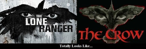 The Lone Ranger Totally Looks Like The Crow