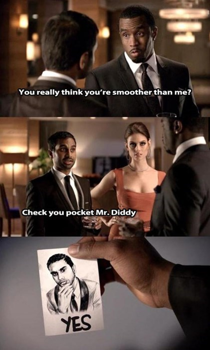 commercial,smooth,P Diddy,aziz ansari