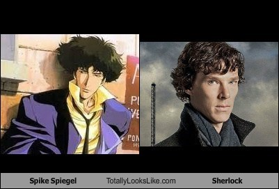 totally looks like,spike spiegel,Sherlock,cowboy bebop,funny