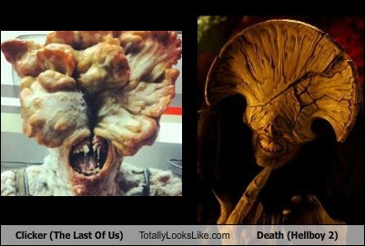 Death,clicker,totally looks like,the last of us,hellboy,funny