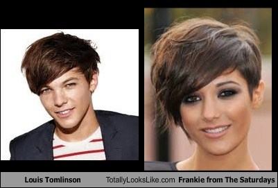 Louis Tomlinson  Totally Looks Like Frankie from The Saturdays
