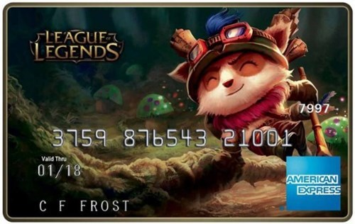 American Express is Launching League of Legends Prepaid Debit Cards