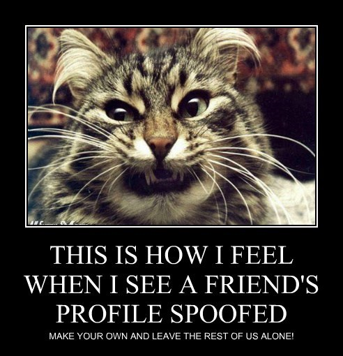 THIS IS HOW I FEEL WHEN I SEE A FRIEND'S PROFILE SPOOFED