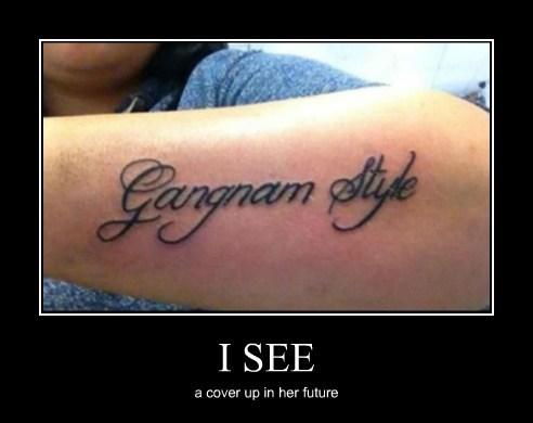 tattoos,gangnam style,funny
