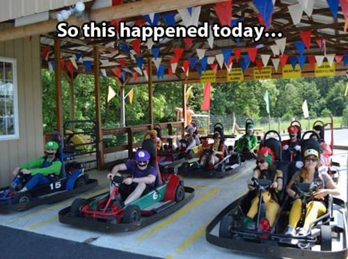 Cosplay Win Mario Kart Racing Style