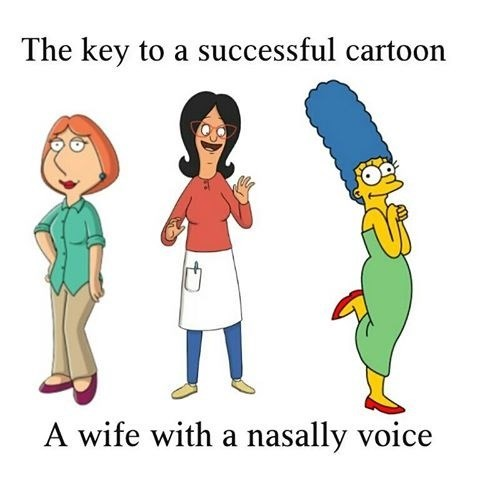 family guy,wives,relationships,bobs-burgers,cartoons,the simpsons