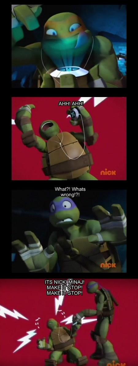 teenage mutant ninja turtles,Music,nicki minaj,funny