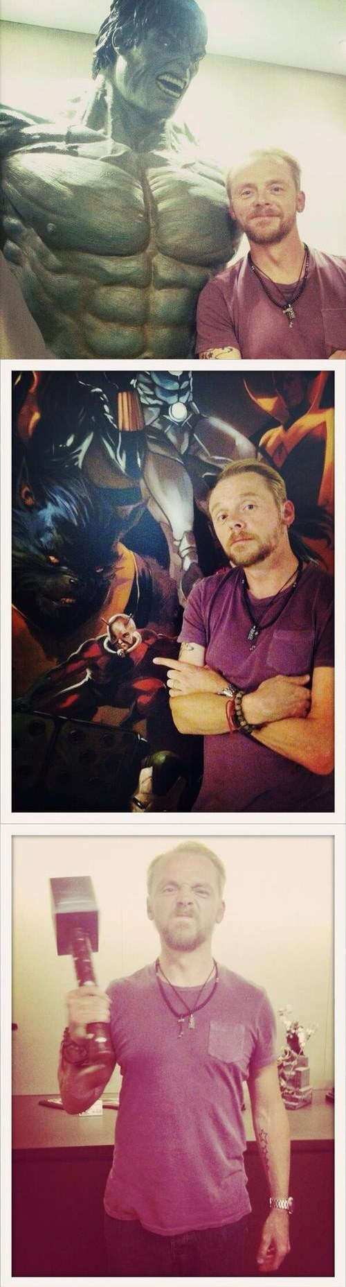 Simon Pegg's Day at Marvel