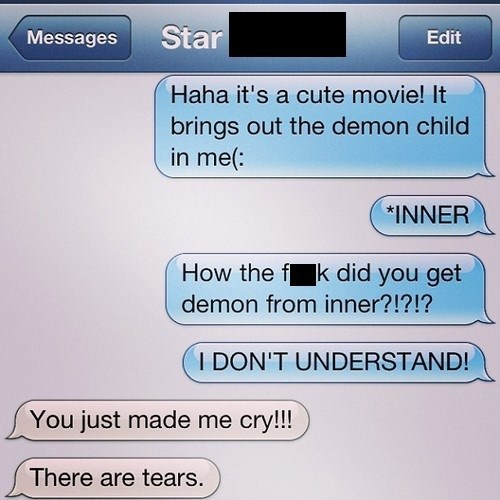 autocorrect,inner child,text,demons,funny,AutocoWrecks