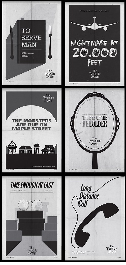 Classic Twilight Zone Posters