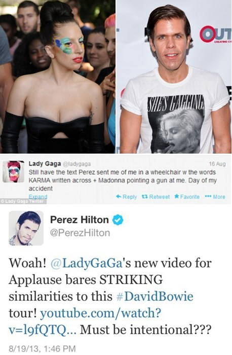 lady gaga,twitter war,twitter,Perez Hilton