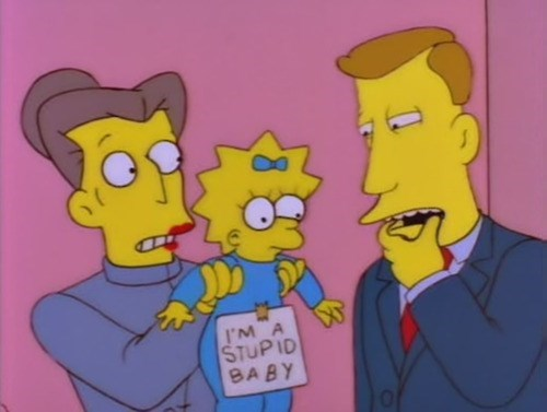 Babies,signs,parenting,the simpsons,notes,funny