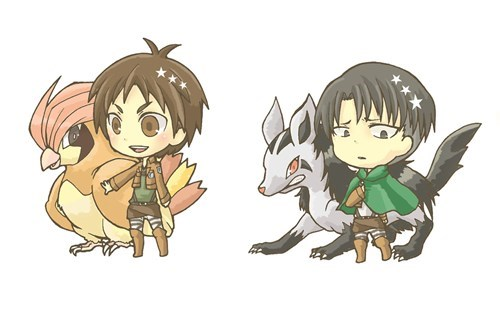 If Attack on Titan Characters Were Pokémon Trainers