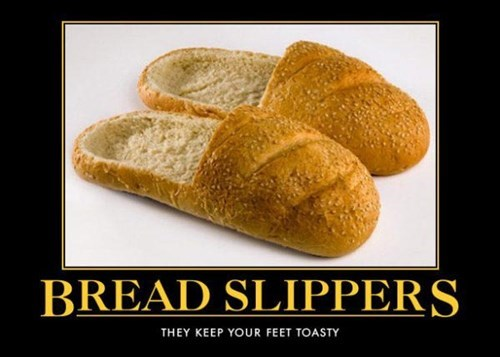 wtf,slippers,bread,funny