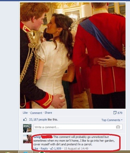 weird comments,comments,facebook comments,carrots