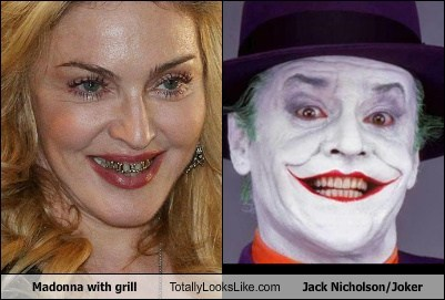 Madonna w/ Grill Totally Looks Like Jack Nicholson as Joker