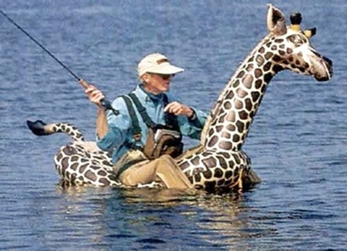 fishing,giraffes,inflatable