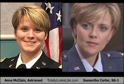 Anne McClain, Astronaut Totally Looks Like Samantha Carter, SG-1
