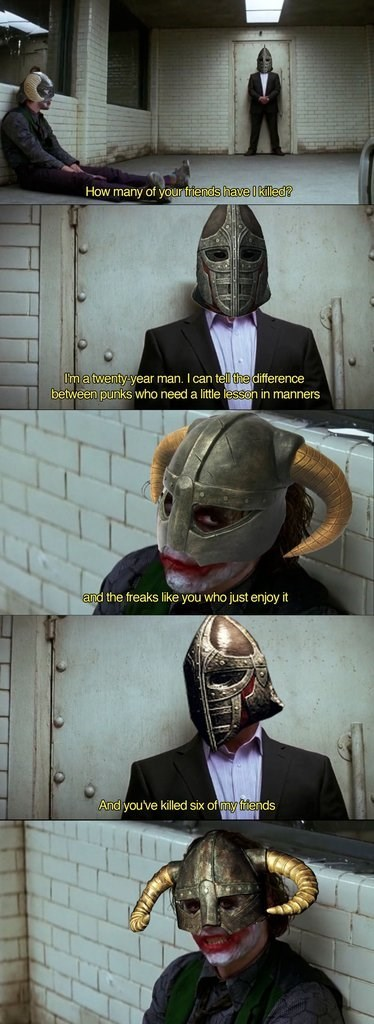 the dark knight,Skyrim