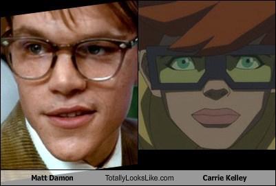 DC,matt damon,batfleck,robin,totally looks like,carrie kelley