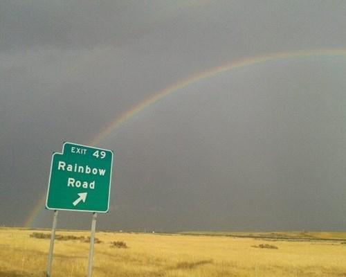 rainbow road,IRL,Mario Kart