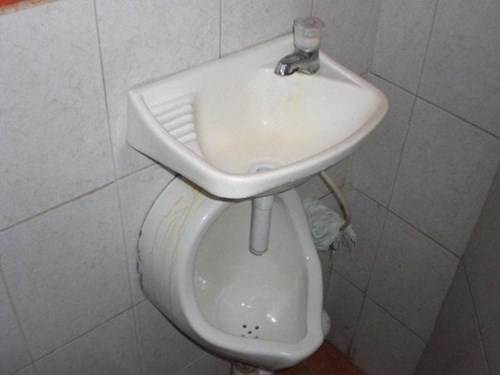 urinal,sink,bathroom,funny,there I fixed it,greywater