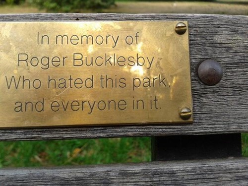 sign,old people rock,park,funny