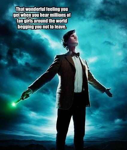 Matt Smith,doctor who,fangirls,regeneration,fangirling