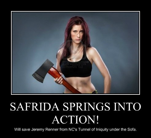 SAFRIDA SPRINGS INTO ACTION!