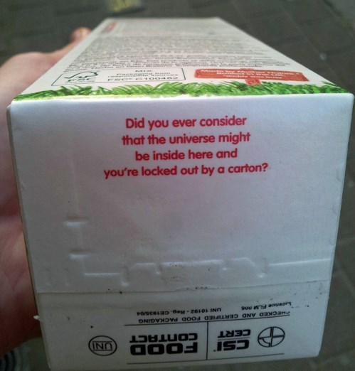 A Juice Carton Gets Deep