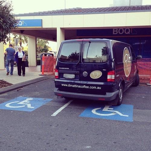 parking spaces,douchebag parking,disabled parking