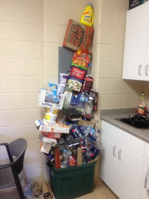 dorms,recycling,funny,college