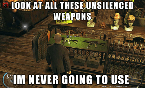 This is What Happens When You Find an New Weapon in a Stealth Game