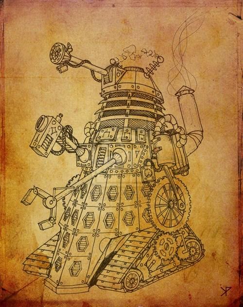 dalek,FanArt,Steampunk,Exterminate,doctor who