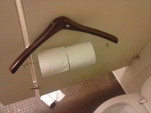 toilet paper,bathroom,hanger,funny,there I fixed it