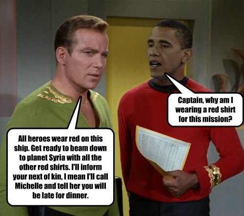 Captain, why am I wearing a red shirt for this mission?