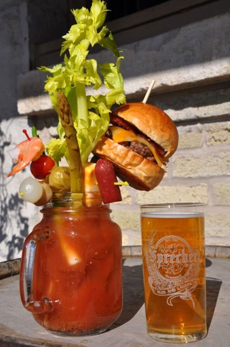 drink,beer,bloody mary,burger