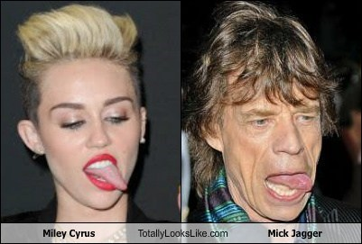 Miley Cyrus Totally Looks Like Mick Jagger