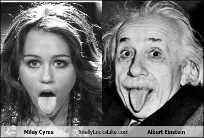 Miley Cyrus Totally Looks Like Albert Einstein