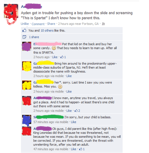 kids,parenting,facebook,sparta,funny,g rated