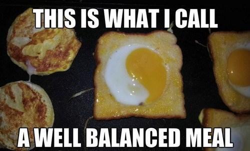 breakfast,balance,yin yang
