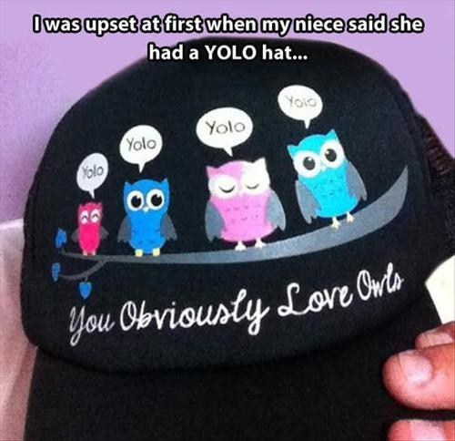 yolo,owls,love,poorly dressed,g rated