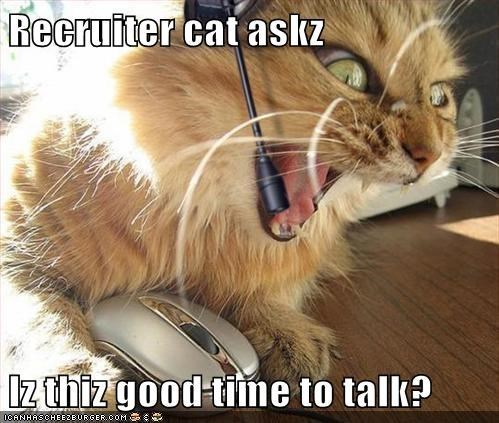 Iz thiz good time to talk?